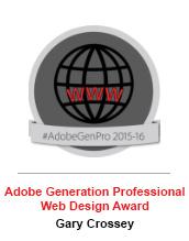 Adobe Web Design Award - Gary Crossey