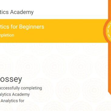 Google Analytics Academy Cerficate