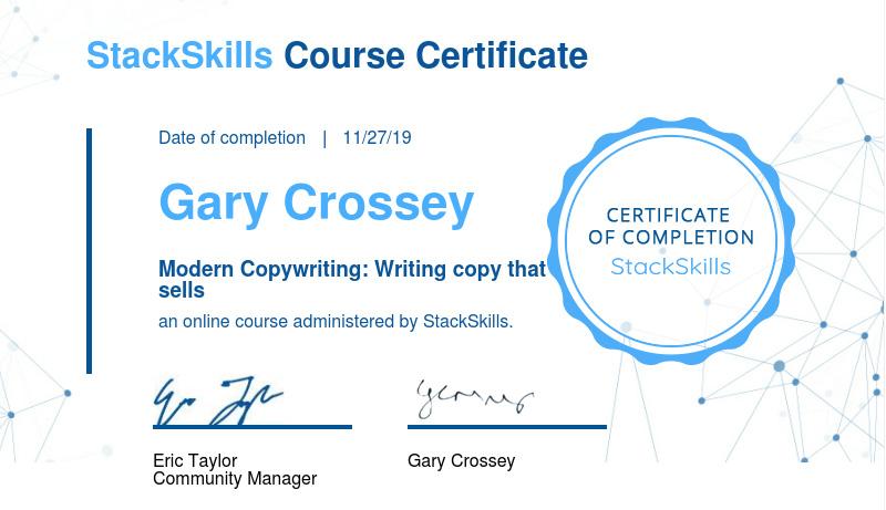 Modern Copywriting Certification