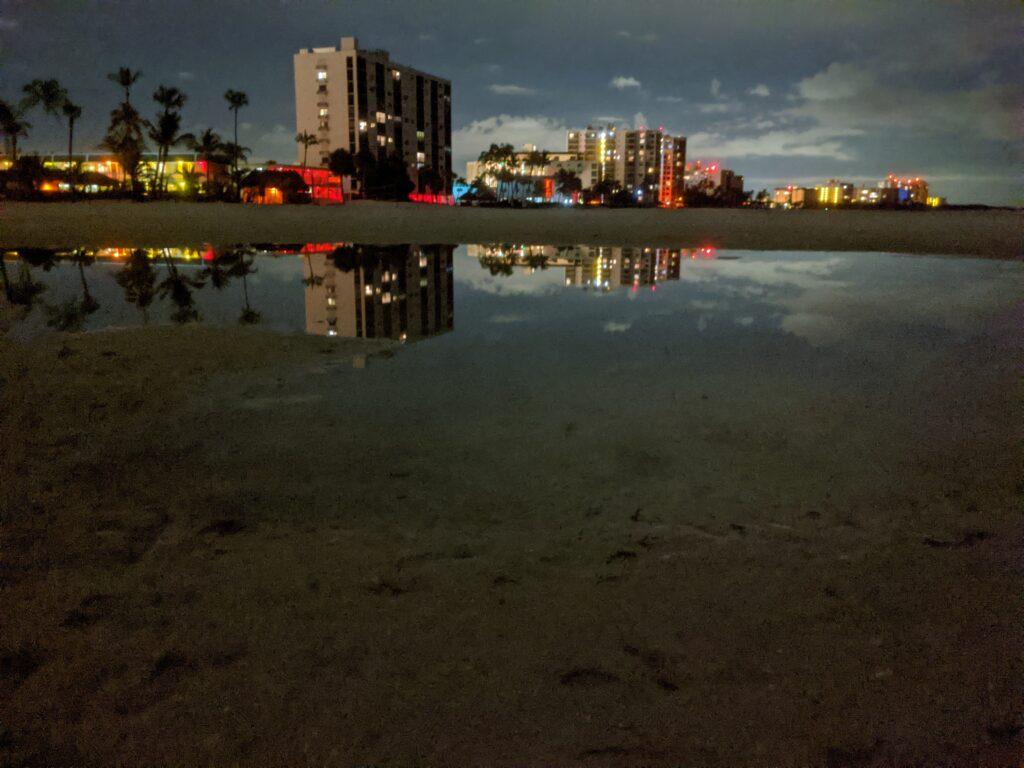 Night beach photography by Gary Crossey